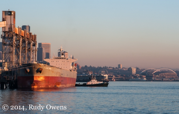 Grain Ship Loading Up