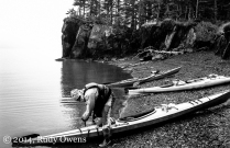 Getting ready to launch on day two of a great kayaking adventure in Prince William Sound, Alaska (2010).