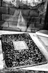 """This is a journal on display at Laura Plantation near New Orleans. It's behind a glass case, but it's basically a list the human property. And, it's written in French, as this was a """"Creole"""" style plantation."""