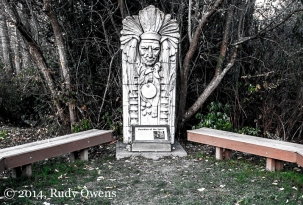 In a hidden corner of Discovery, you'll find the Guardian of the Spirit statue and meeting place, by the Daybreak Start Native Cultural Center.