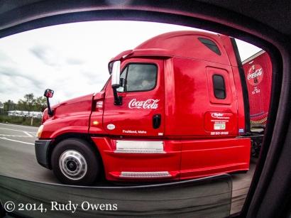 A GoPro illuminates the commuting life on Highway 599 (2014).