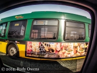 A GoPro illuminates life inside the four-wheel box (2014).