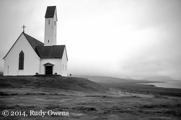 North of Reykjavik sits a house of God, alone in the loneliness of the north Atlantic.