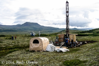Drill pads were scattered over the prospective site, where samples were taken for further lab analysis (2005).