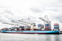 Axel Maersk Unloads Cargo in Seattle
