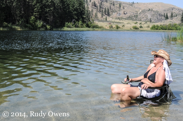 This shot was taken in one of several refreshing lakes near Omak, Wash., a beautiful area about four hours by car from Seattle.