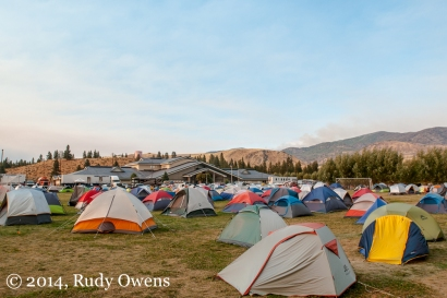 One of the fire incident command centers is located at the Methow Valley Elementary School near Winthrop, where hundreds of tents are pitched, creating a small city.