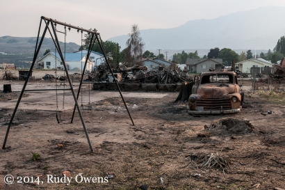 Pateros was the hardest hit single community, where wildfires burned a swath of homes after the flames raced down the hillside forcing residents to flee with almost no time to grab belongings.