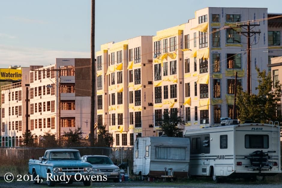 Homeless Camp and Portland Development