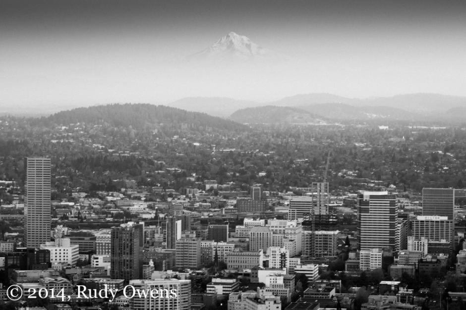 Photo of Mt. Hood and Portland