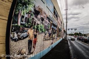 Portland Vespa Mural