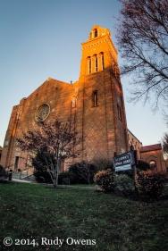St. Stephen Catholic Church at Sunset Photograph