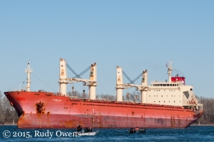 Cargo Ship Columbia River Photo
