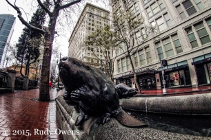 Downtown Portland Beaver Sculpture
