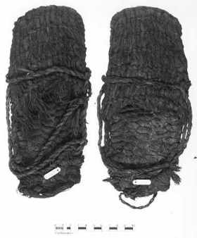 These sandals were found a mile from Fort Rock State Natural Area and are approximately 10,000 years old (photo courtesy of the University of Oregon). These sandals were found in 1938 by archaeologist Luther Cressman.