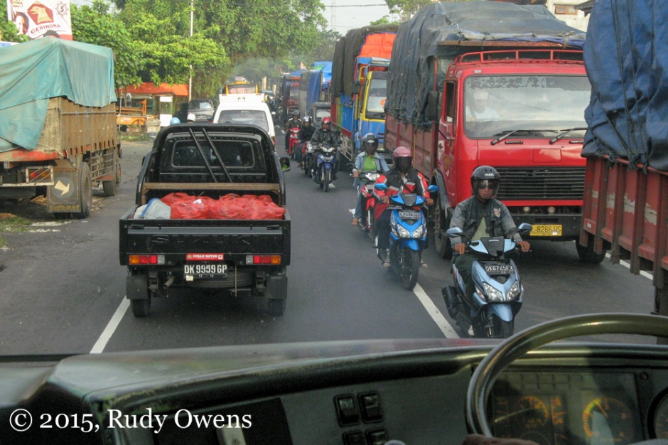 Indonesian Traffic Jam, Bali Photo