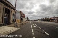 A Bike Lane now graces a stretch of Michigan Avenue near downtown Detroit.
