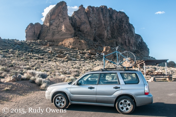 Subaru and Surly at Fort Rock