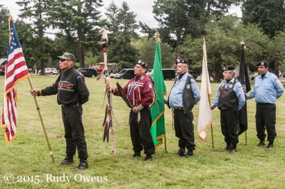 The Native American Veterans Color Guard