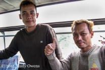 Indonesian Men on Bus Photo