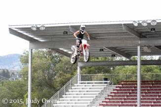 Motorcycle jump photo