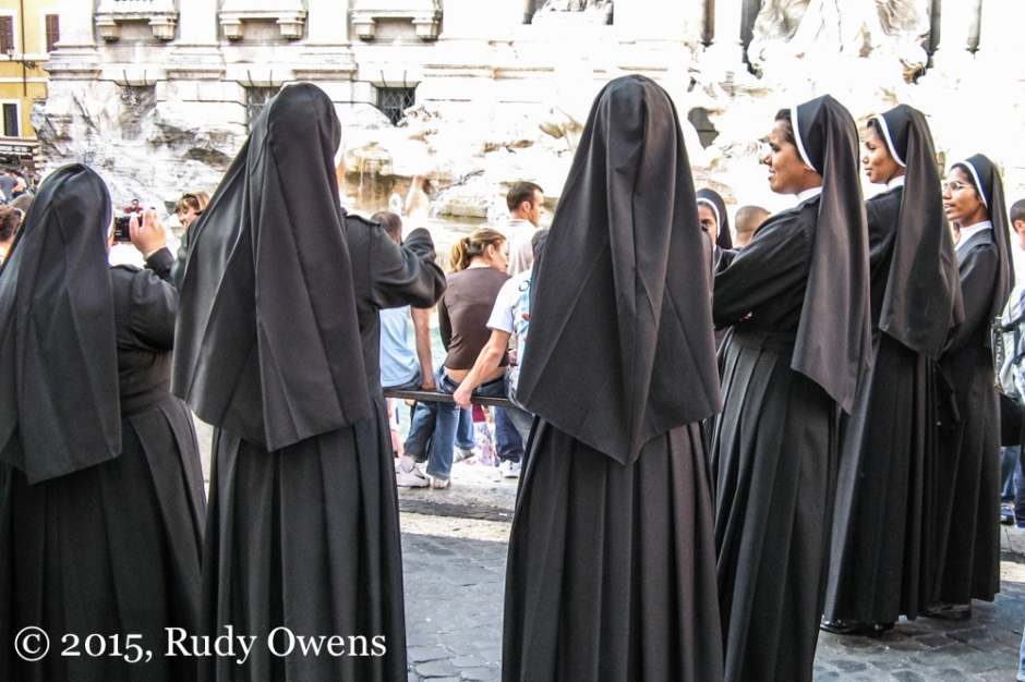 Indian Nuns at Trevi Fountain