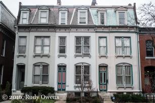 Lafayette Square Row Homes in Winter