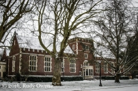 Reed College Library, Snow Storm 2016