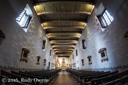 Inside the San Diego Mission Basilica