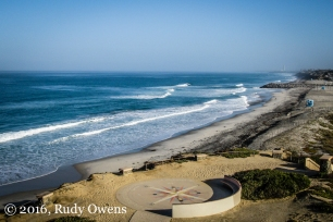 Morning light bathes South Ponto Beach, which lies just north of Encinitas in Carlsbad, California.