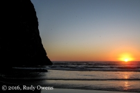 Sunset at Haystack Rock