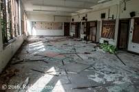 Scenes of devastation greet visitors to Crockett Technical High School in Detroit (taken September 2015).