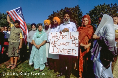 The Seattle Sikh community gathered days after 9-11 at the Seattle Center to express both their loyalty and concern in the aftermath of the attacks.