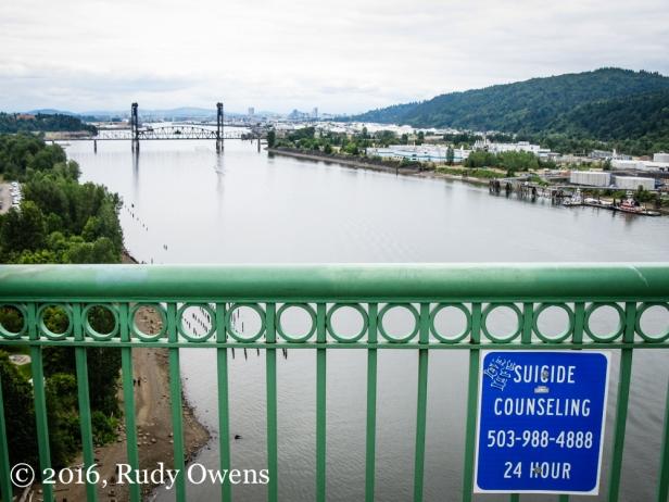 St. John's Bridge, Posted Sign