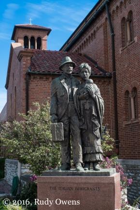 Italian Immigrant Statue