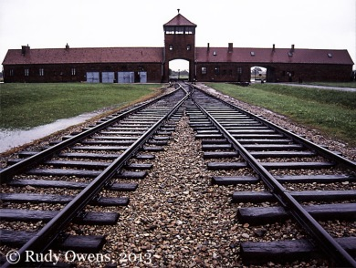 Entrance to the Birkenau Death Camp
