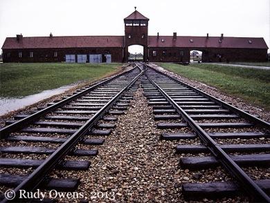 Entrance to the Birkenau Death Camp