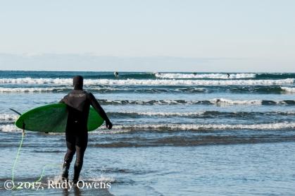 Winter Surfing Seaside