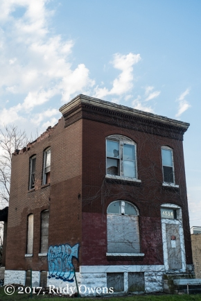 An abanoned home near the Urban Chestnut
