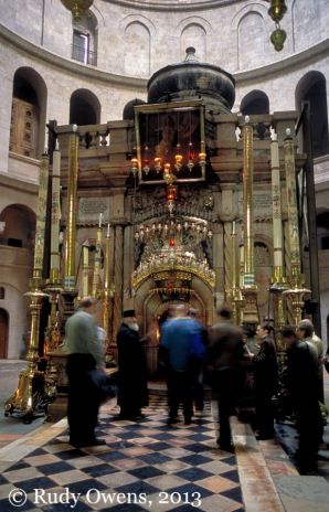 The Edicule, located inside the Church of the Holy Sepulchre.