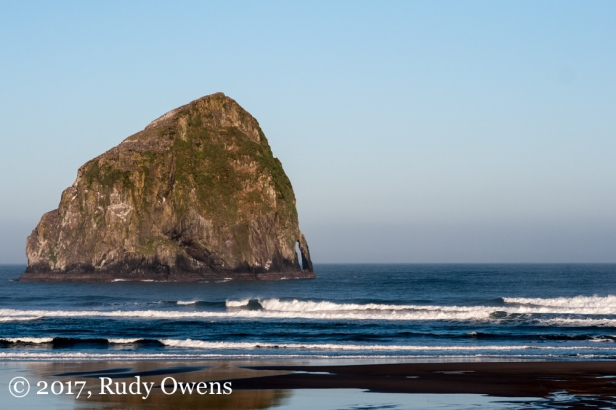 The iconic Haystack Rock in Pacific City is visible from miles away.