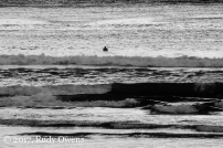 The waves were well over seven feet and some of the sets were ripping as the surfers began paddling out to the line up to wait for the right wave on May 12, 2017.