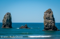 I almost surfed here, at the Needles, at Cannon Beach. The waves looked nicer than Seaside's, which was rare.