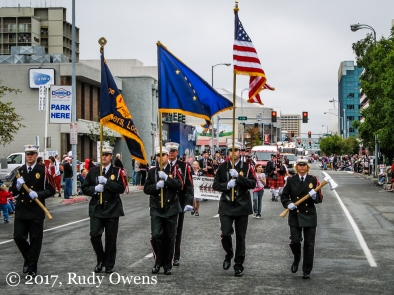 Anchorage firefighters marching proud