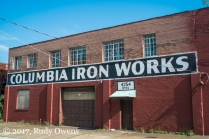 Now closed, Columbia Iron Works
