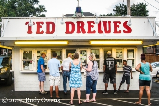 World famous Ted Drewes on South Grand Avenue, in the Dutchtown Neighborhood