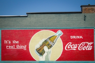 The Coke mural in Cottage Grove, Oregon