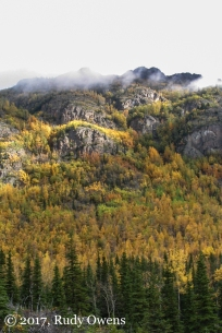 Yes, this is real, and it's just one of many mountainsides in Chugach State Park.