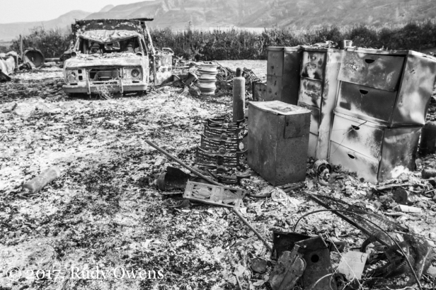 The damage left by fires in the Methow Valley, August 2014.