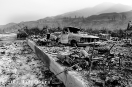Scene from the Carlton Complex Fire aftermath.